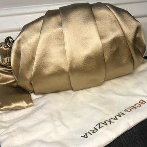 NWT BCBGMaxAzria Champagne Pleated Clutch Wrist